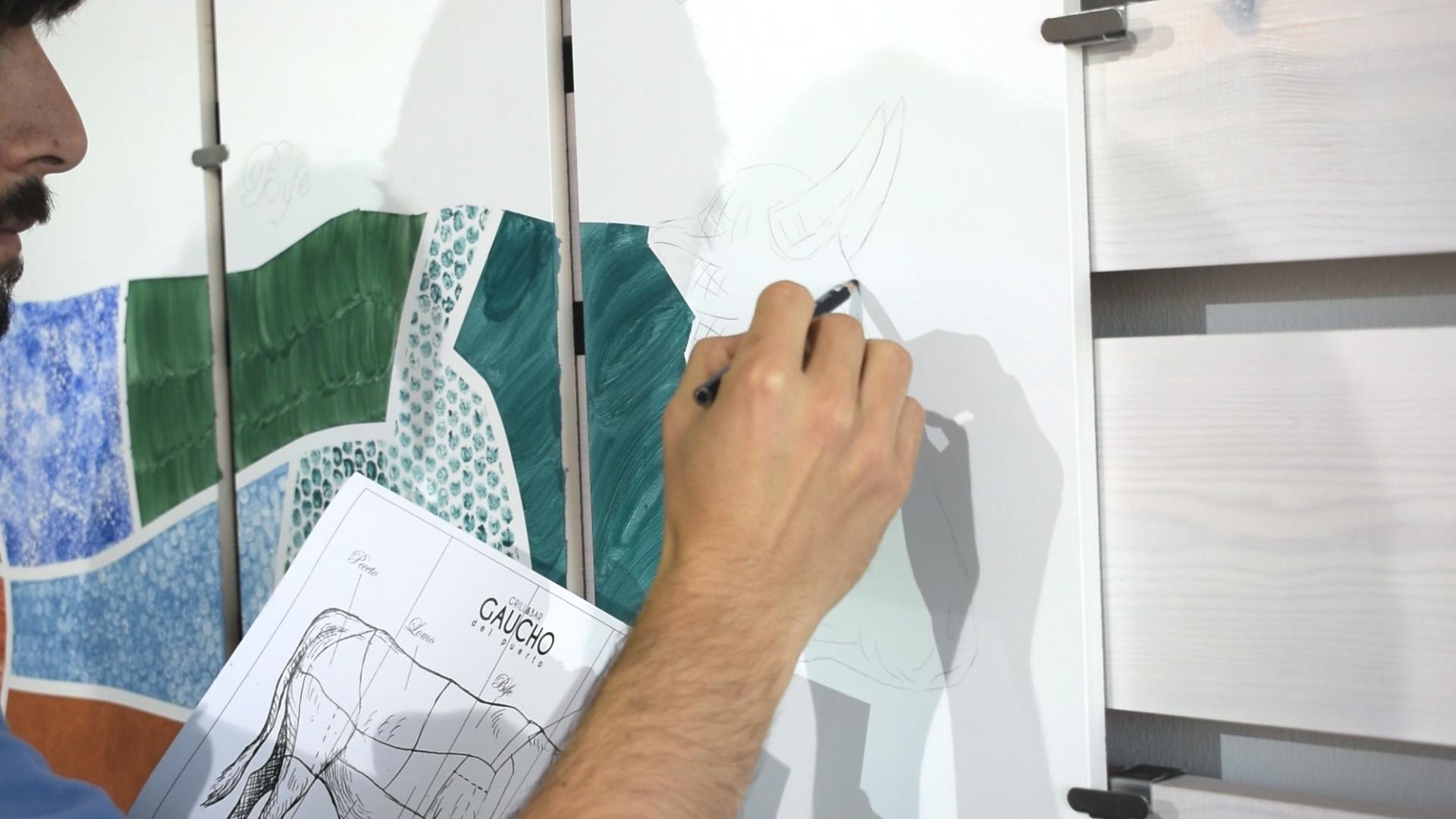 Mural Bathco Atelier de Gaucho del Puerto