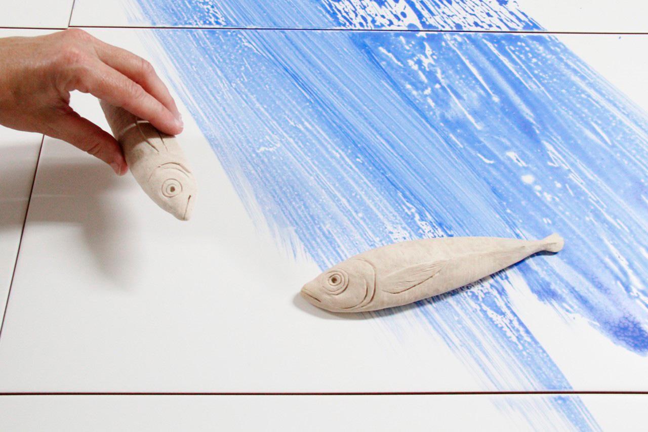 Piezas de cerámica realizada por los artistas de Bathco Atelier