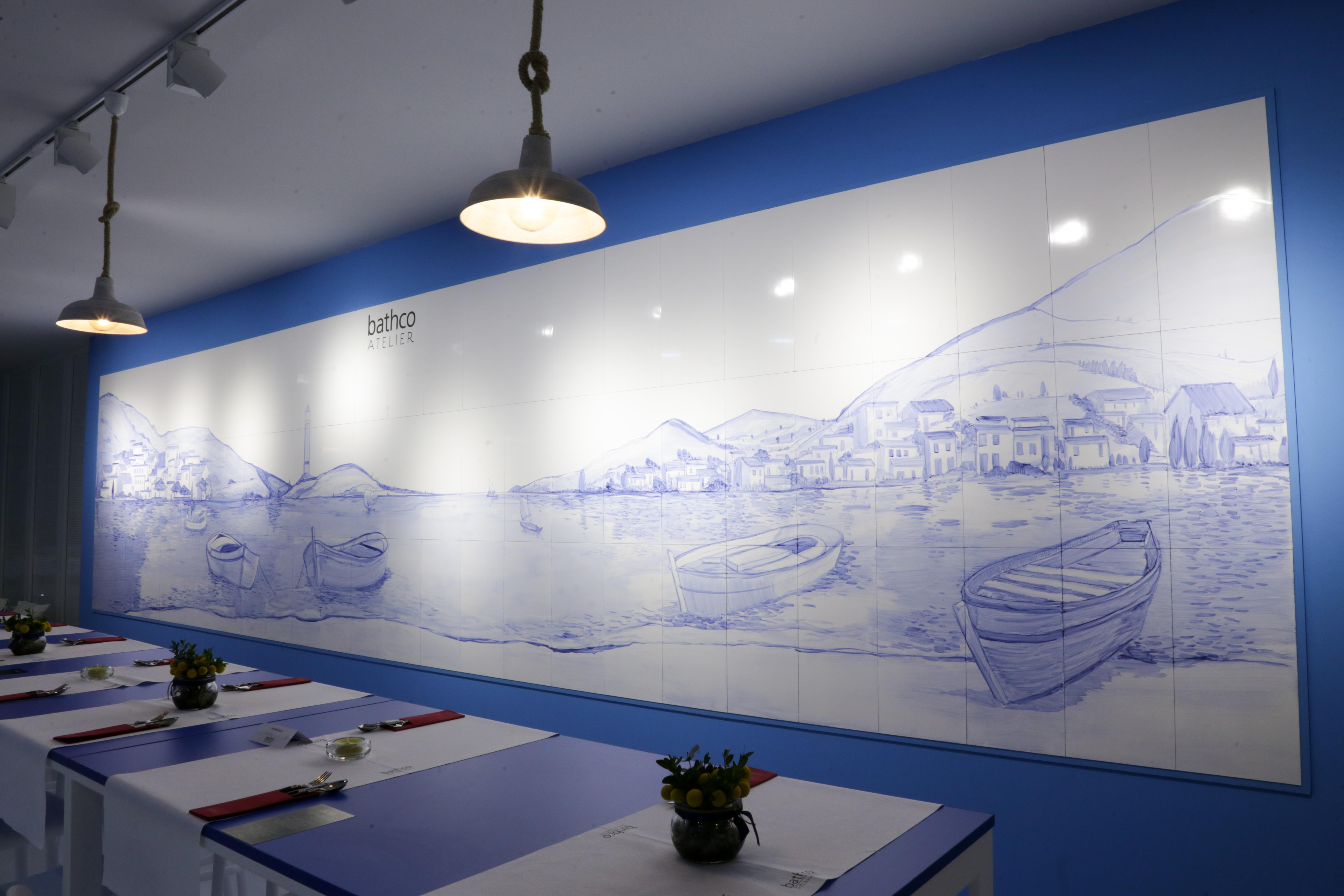 Mural de Bathco Atelier en Cevisama