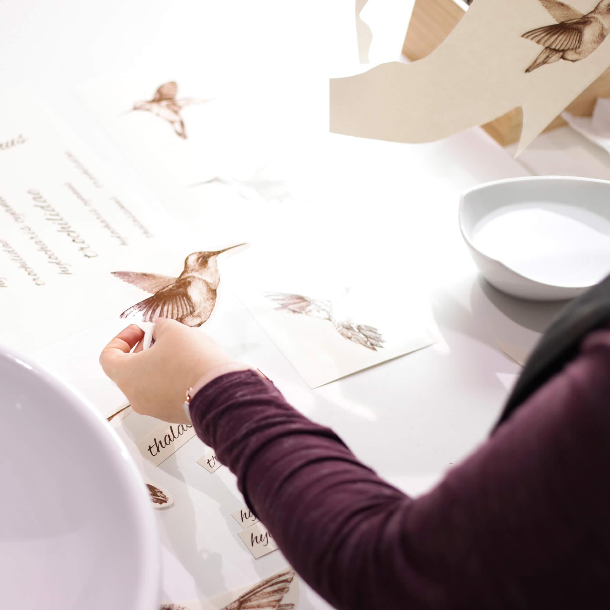 Proceso de creación del lavabo colibrí
