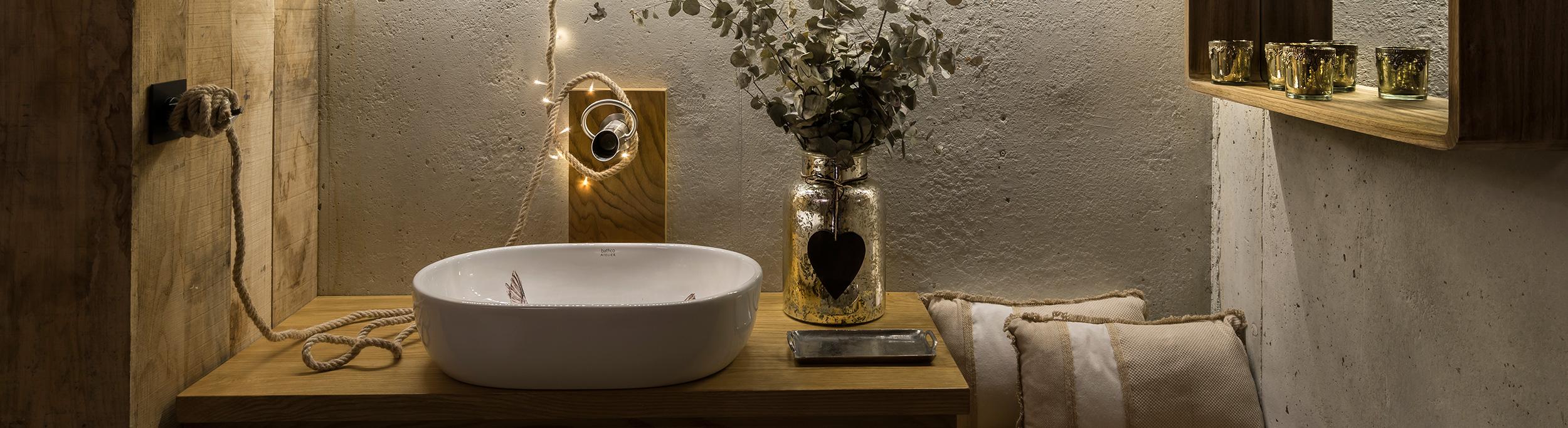 Baño realizado por Studio San Fernando con lavabo Bathco Atelier
