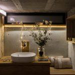 Baño realizado por Studio San Fernando con lavabo de Bathco Atelier