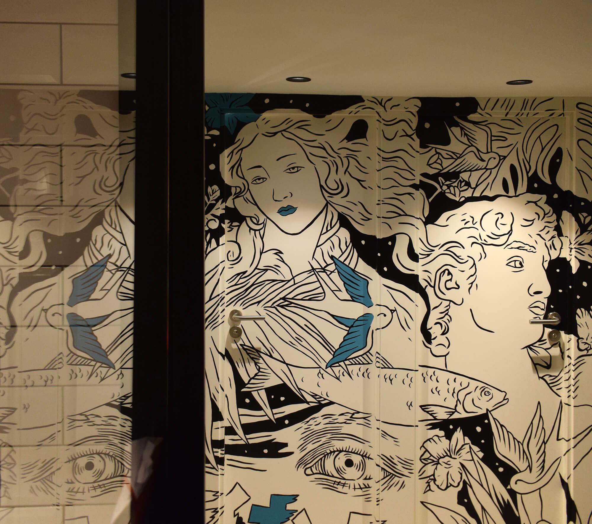Trabajo de Bathco Atelier en el restaurante Daria