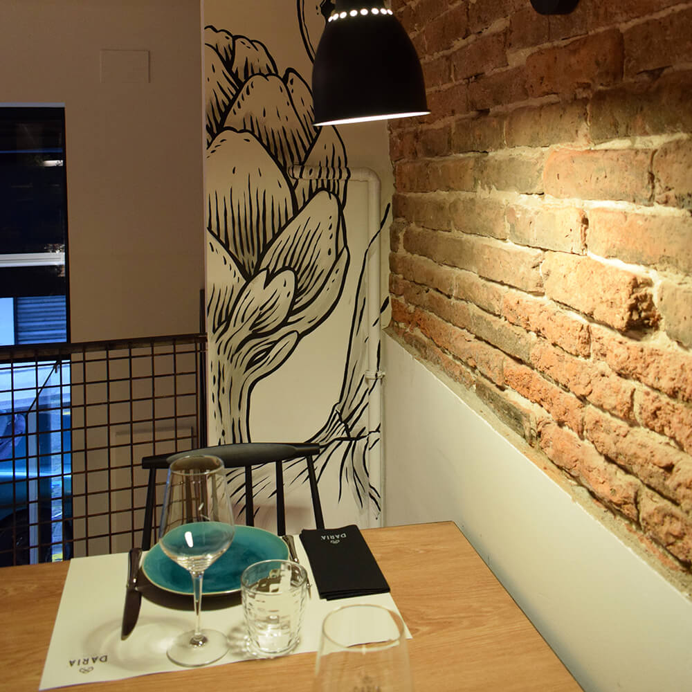 Trabajo de Bathco Atelier en restaurante Daria