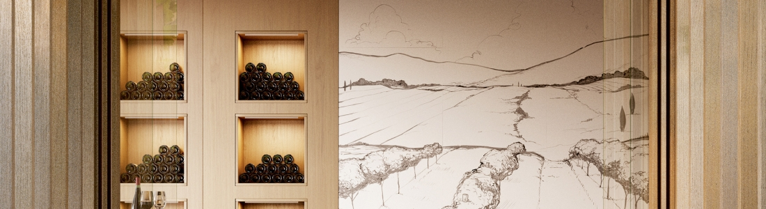Art in a winery between vineyards, an Atelier project by Bathco