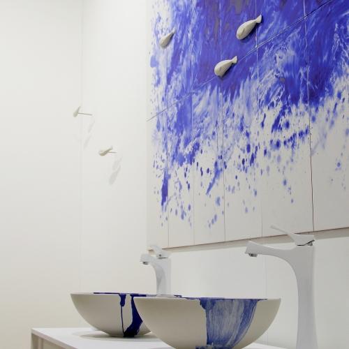 Lavabos pintados por lso artistas de Bathco Atelier