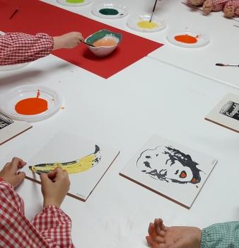 Los alumnos de Educación Infantil del Colegio Salesianos de Santander visitan el Atelier de Bathco